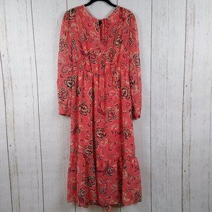 Who What Wear Floral Maxi Dress Large
